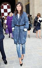 OCT 03 2012 Emmanuelle Alt at Louis Vuitton show in Paris