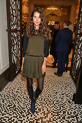 SARAH ANN MACKLIN at the IWC Schaffhausen hosted Private Screening of The Lobster In Celebration Of The BFI - before the screening a drinks reception was held at The Langham Hotel, London on 15th October 2015.