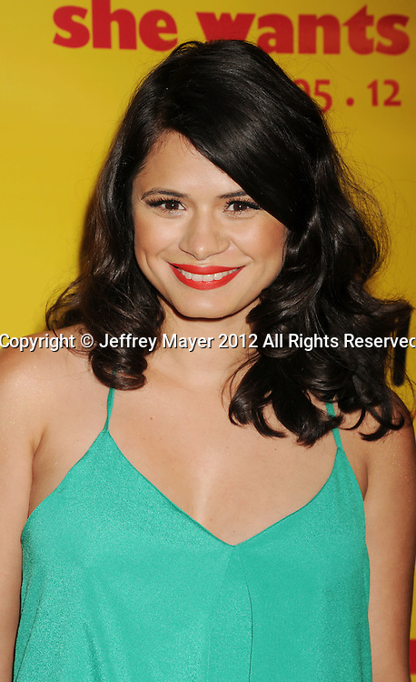 BEVERLY HILLS, CA - APRIL 05: Melonie Diaz attends the Los Angeles Premiere of 'She Wants Me' at Laemmle's Music Hall 3 on April 5, 2012 in Beverly Hills, California.