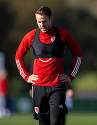 CARDIFF, WALES - Wednesday, October 7, 2020: Wales' Chris Gunter during a training session at the Vale Resort ahead of the International Friendly match against England. (Pic by David Rawcliffe/Propaganda)