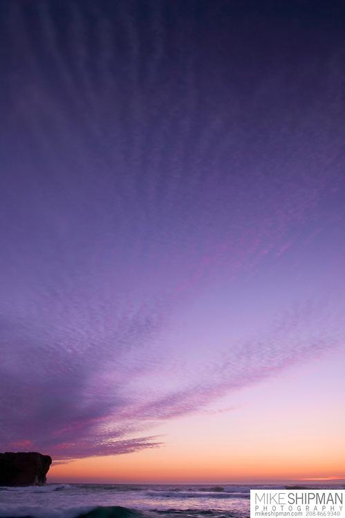 Brilliant sunset at Otter Rock, Oregon