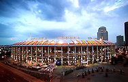 Busch Stadium in St. Louis, MO.  Home of the St. Louis Cardinals during a night game...Wesley Hitt                   .4407 Lakeview Road.North Little Rock, AR 72116.501-258-0920..©Wesley Hitt 2003 Sports photography by Wesley Hitt photography with images from the NFL, NCAA and Arkansas Razorbacks.  Hitt photography in based in Fayetteville, Arkansas where he shoots Commercial Photography, Editorial Photography, Advertising Photography, Stock Photography and People Photography