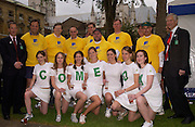 Commons team posing, Lords v Commons tug-o-war in aid of Macmillan Cancer Relief,  Westminster. 22 June 2004. ONE TIME USE ONLY - DO NOT ARCHIVE  © Copyright Photograph by Dafydd Jones 66 Stockwell Park Rd. London SW9 0DA Tel 020 7733 0108 www.dafjones.com