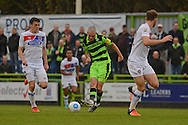 Forest Green Rovers midfielder Liam Noble (15) plays a pass 0-0 during the Vanarama National League match between Forest Green Rovers and Dagenham and Redbridge at the New Lawn, Forest Green, United Kingdom on 29 October 2016. Photo by Alan Franklin.