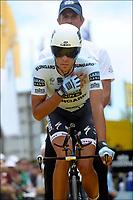 Sykkel<br /> Tour de France 2011<br /> 03.07.2011<br /> Foto: PhotoNews/Digitalsport<br /> NORWAY ONLY<br /> <br /> 2nd stage / ploegentijdrit / contre-la-montre par equipe / team time-trial / Les Essart / CONTADOR Alberto (SAXO BANK SUNGARD - ESP)