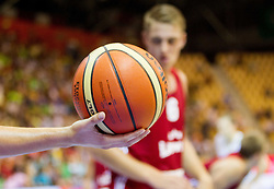 Ball during friendly match between National teams of Slovenia and Latvia for Eurobasket 2013 on August 2, 2013 in Arena Zlatorog, Celje, Slovenia. (Photo by Vid Ponikvar / Sportida.com)