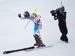 17.02.2013, Planai, Schladming, AUT, FIS Weltmeisterschaften Ski Alpin, Slalom, Herren, 2. Durchgang, im Bild Mario Matt (AUT, 3. Platz) // 3th place Mario Matt of Austria reacts after his 2nd run of the mens Slalom at the FIS Ski World Championships 2013 at the Planai Course, Schladming, Austria on 2013/02/17. EXPA Pictures © 2013, PhotoCredit: EXPA/ Johann Groder