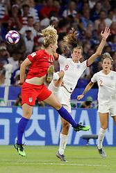 USA's Abby Dahlkemper battling England's Jill Scott during the FIFA Women soccer World Cup 2019 1/2 final match England v USA at Groupama Stadium in Lyon, France on July 2, 2019. USA won 2-1. Photo by Henri Szwarc/ABACAPRESS.COM
