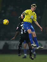 Photo: Paul Thomas.<br /> Notts County v Hereford United. Coca Cola League 2. 22/12/2006.<br /> <br /> Alan Connell of Hereford wins the ball from Jay Smith.