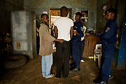 In the city of Bukavu, South Kivu, the crime of sexual violence among civilians was also rising high during the conflict. The man in the center was accused of violating a 13-year-old girl and he was taken to the booking center after the mother reported him to the police, April 8, 2009. Here, he will stay for 48 hours, then to the prosecutor's jail. If he cannot prove him guilty or bribe to the judges, he will be sent to prison.