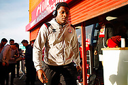 Ricardo German arrives before the EFL Sky Bet League 2 match between Walsall and Crawley Town at the Banks's Stadium, Walsall, England on 18 January 2020.