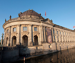 Evening view of Bode Museum on Museum Island or Museumsinsel in Mitte Berlin Germany