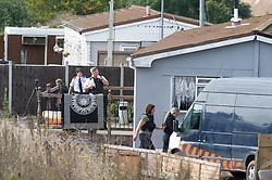 ©Licensed to London News Pictures 10/09/2020  <br /> Orpington, UK. Police continue to search a traveller site in Orpington, South East London today after one of the biggest armed police operations in the UK. The site and local roads are under Met police control with a large cordon in place. Photo credit:Grant Falvey/LNP