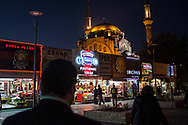 The old shopping district in central Kayseri, Turkey. After a large number of shopping centres were built in the city, and across Turkey, independent businesses face a new challenge to survive.
