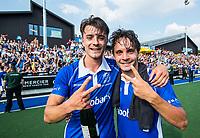UTRECHT - Jasper Luijkx (Kampong) en Pepijn Luijkx (Kampong)    na  de finale van de play-offs om de landtitel tussen de heren van Kampong en Amsterdam (3-1).   COPYRIGHT KOEN SUYK