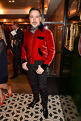 David Furnish at a party to celebrate the publication of Place by Tara Bernerd held at il Pampero at The Hari, 20 Chesham Place, London, England. 8 March 2017.