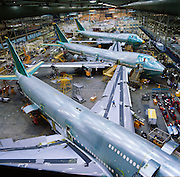Manufacturing of 747's in Everette, Washington