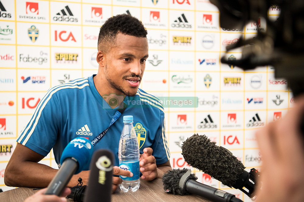 July 4, 2018 - Gelendzhik, Russia - 180704 Martin Olsson of the Swedish national football team in the mixed zone during the FIFA World Cup on July 4, 2018 in Gelendzhik..Photo: Petter Arvidson / BILDBYRÃ…N / kod PA / 92081 (Credit Image: © Petter Arvidson/Bildbyran via ZUMA Press)