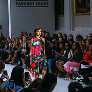 London, England, UK. 17th September 2017. Desinger Ina Hsu - FJU Talents Showcases lastest collection at FASHION SCOUT SS18 Day 3 at Freemasons Hall.