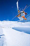 Alaska. Chugach Mountains. Girdwood and alpine skiing fun.