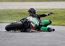 October 26, 2018 - Melbourne, Victoria, Australia - British rider Scott Redding (#45) of April Racing Team Gresini crashes during day 2 of the 2018 Australian MotoGP held at Phillip Island, Australia. (Credit Image: © Theo Karanikos/ZUMA Wire)