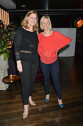 Left to right,  SARAH BROWN and BEC ASTLEY CLARKE at a party to celebrate the Astley Clarke & Theirworld Charitable Partnership held at Mondrian London, Upper Ground, London on 10th March 2015.