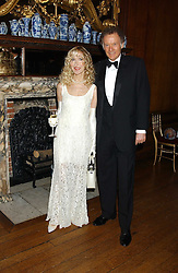 RICHARD & BASIA BRIGGS at a fundraising dinner in aid of the Hoedspruit Endangered Species Foundation in the presence of TRH Rrince & Princess Michael of Kent at Kensington Palace, London on 2nd March 2006.<br />