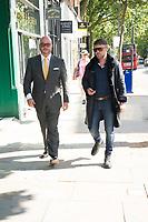 Jonathan Sothcott, Danny Bear on the set of Renegades ,Upper Street Islington<br /> .