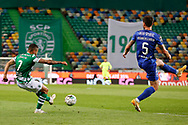 Tabata shoot to the area during the Liga NOS match between Sporting Lisbon and Belenenses SAD at Estadio Jose Alvalade, Lisbon, Portugal on 21 April 2021.