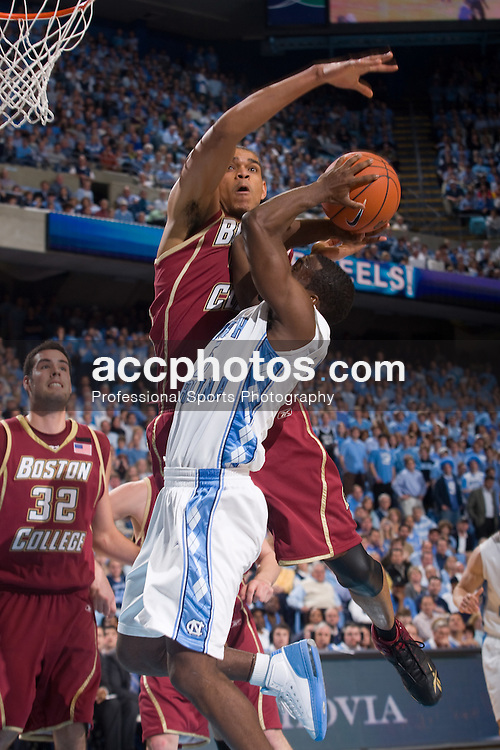 31 January 2008: North Carolina Tar Heels guard Ty Lawson (5) during a 69-91 win over the Boston College Eagles at the Dean Smith Center in Chapel Hill, NC.