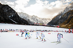 Ski runners during Ladies 1.2 km Free Sprint 1/4 final race at FIS Cross<br /> Country World Cup Planica 2016, on January 16, 2016 at Planica,Slovenia. Photo by Ziga Zupan / Sportida