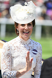 Members of The Royal Family attend the first day of Royal Ascot at Ascot Racecourse, Ascot, Berkshire, UK, on the 20th June 2017. 20 Jun 2017 Pictured: Catherine, Duchess of Cambridge, Kate Middleton. Photo credit: James Whatling / MEGA TheMegaAgency.com +1 888 505 6342