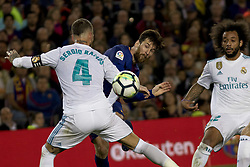 May 6, 2018 - Barcelona, Catalonia, Spain - Leo Messi during the spanish football league La Liga match between FC Barcelona and Real Madrid at the Camp Nou Stadium in Barcelona, Catalonia, Spain on May 6, 2018  (Credit Image: © Miquel Llop/NurPhoto via ZUMA Press)