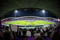 Overview of the football field before group E football match between NK Maribor and Liverpool FC in 3rd Round of UEFA Champions League, on October 17, 2017 in Ljudski vrt, Ljubljana, Slovenia. Photo by Morgan Kristan / Sportida