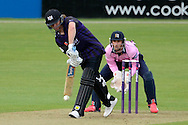 Hamish Marshall drives the ball during the NatWest T20 Blast South Group match between Gloucestershire County Cricket Club and Middlesex County Cricket Club at the Bristol County Ground, Bristol, United Kingdom on 15 May 2015. Photo by Alan Franklin.