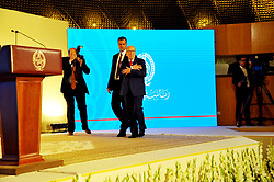 May 10, 2017 - Tunis, Tunisia - The President of the Republic, Béji Caïd Essebsi, delivered a speech on Wednesday, May 10, 2017, at the Palais des Congrès in Tunis - during his speech he decided that the army will ensure the protection of sensitive sites. The blocking of roads will no longer be accepted, he added that anyone who wishes to observe a strike can do so without paralyzing the work. (Credit Image: © Chokri Mahjoub via ZUMA Wire)