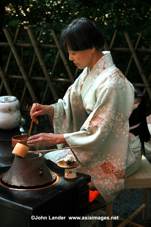 """Japanese Tea Ceremony - What is commonly known in English as the Japanese tea ceremony is called sado or chado """"the way of tea"""", or chanoyu literally """"hot water for tea"""" in Japanese. It is a traditional activity in which matcha  powdered green tea is ceremonially prepared and served. Zen Buddhism was integral to its development and this influence pervades many aspects of tea ceremony."""