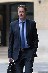 "© Licensed to London News Pictures. 20/10/2016. LONDON, UK.  John Scouler, British supermarket giant Tesco's former food commercial head arrives at Southwark Crown Court for a plea hearing. Three former senior executives of Tesco: Carl Rogberg, Chris Bush and John Scouler are charged as part of a Tesco accounting scandal, with one count of fraud by abuse of position and one count of false accounting and are alleged to have ""dishonestly falsified"" the accounts. The supermarket's former finance chief, managing director and food commercial head were investigated by the Serious Fraud Office (SFO) for their alleged role in the accounting scandal in which Tesco was found to have inflated its profits in 2014.  Photo credit: Vickie Flores/LNP"