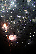Fireworks at the Celebration of the Life and Legacy of Dr. Barabara Ann Teer at the Memorial Service held at The Riverside Drive in Harlem, NY on Monday, July 28, 2008