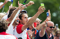 ANTWERP -   After  he made a goal , French Charles Masson is making a selfie with the supporters ,  during  the hockeymatch   Pakistan vs France  WSP COPYRIGHT KOEN SUYK
