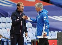 Football - 2020 / 2021 Premier League - Crystal Palace vs Everton<br /> <br /> Everton Manager,Carlo Ancelotti celebrates with Coach, Duncan Ferguson at the final whistle at Selhurst Park<br /> <br /> COLORTSPORT/ANDREW COWIE