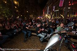 The Broken Spoke Saloon during Daytona Beach Bike Week 2015. FL, USA. March 13, 2015.  Photography ©2015 Michael Lichter.