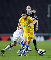Fotball<br /> England<br /> Foto: Fotosports/Digitalsport<br /> NORWAY ONLY<br /> <br /> Milton Keynes Dons v Colchester United Coca Cola League One 12.01.09 <br /> <br /> Kem Izzet Colchester Utd 2008/09