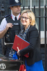 Downing Street, London, May 17th 2016. Energy Secretary Amber Rudd arrives at the weekly cabinet meeting in Downing Street.