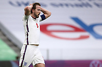 TIRANA, ALBANIA - MARCH 28: Harry Kane of England is dejected after missing a chance during the FIFA World Cup 2022 Qatar qualifying match between Albania and England at the Qemal Stafa Stadium on March 28, 2021 in Tirana, Albania. Sporting stadiums around Europe remain under strict restrictions due to the Coronavirus Pandemic as Government social distancing laws prohibit fans inside venues resulting in games being played behind closed doors (Photo by MB Media)