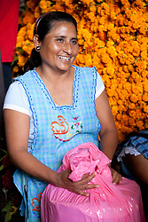 North America, Mexico, Oaxaca Province, Oaxaca, woman selling tortillas in market