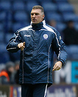 Photo: Steve Bond/Richard Lane Photography. Leicester City v Swansea City. FA Cup Third Round. 02/01/2010. Nigel Pearson queries a decision