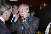 Louis Greig, Simon Keeling 50th Birthday. Cabinet War Rooms, Cabinet War Rooms, Clive Steps, King Charles St, W1 23 January 2007.  -DO NOT ARCHIVE-© Copyright Photograph by Dafydd Jones. 248 Clapham Rd. London SW9 0PZ. Tel 0207 820 0771. www.dafjones.com.