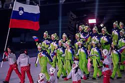 09-02-2018 KOR: Olympic Games day -1, PyeongChang<br /> Openingsceremonie Pyeongchang 2018 Olympic Winter Games / Slovenie, flag bearer Fabian Vesna