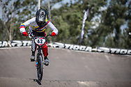 #42 (CARRERA CHALA Karla Belen) ECU during practice at round 1 of the 2018 UCI BMX Supercross World Cup in Santiago del Estero, Argentina.